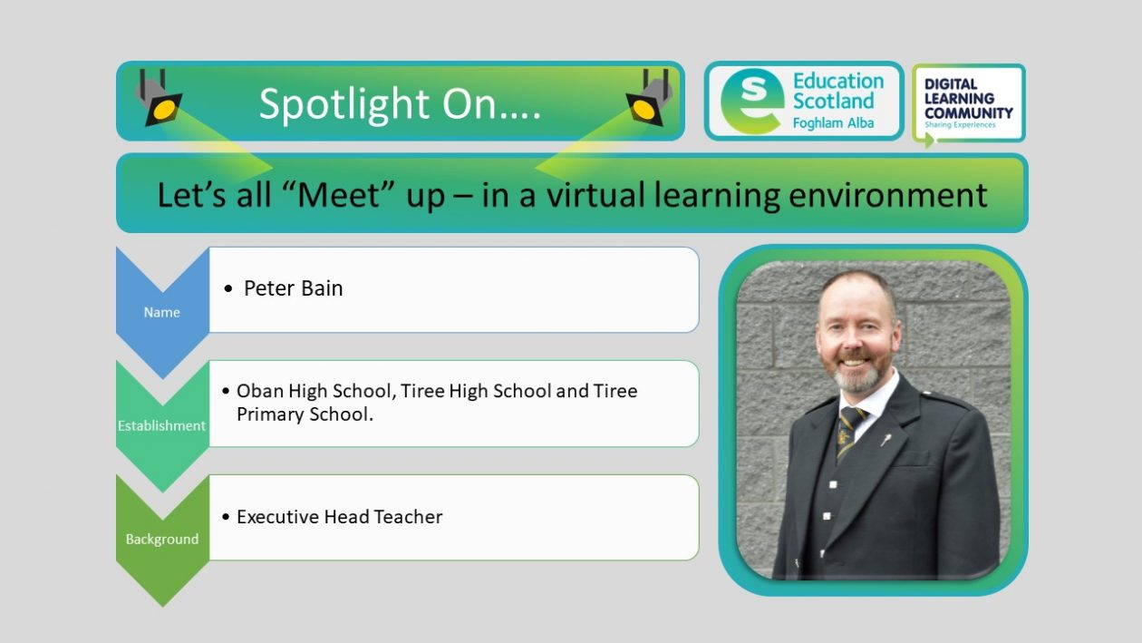 lets all meet up in a virtual learning environment blog post header