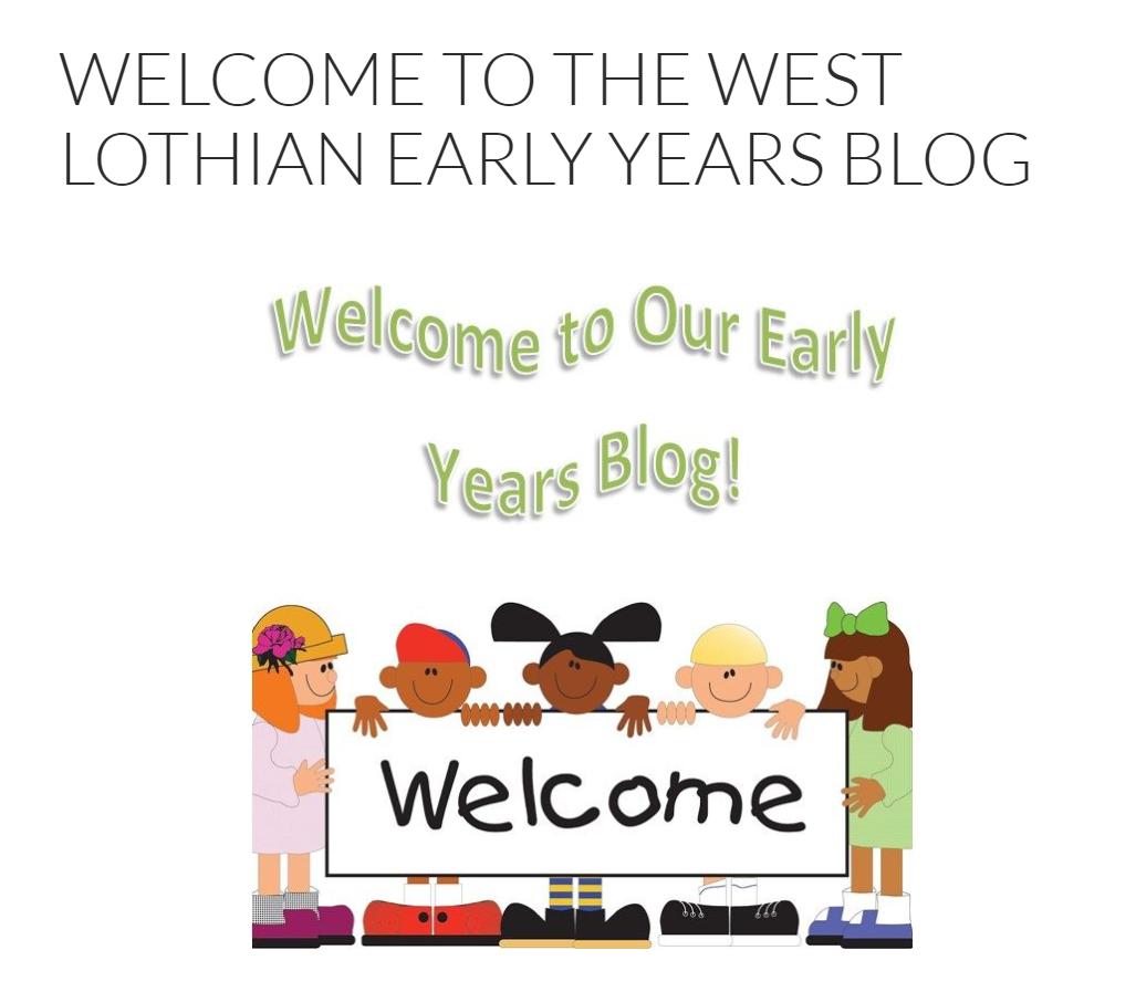 west lothian early years blog screenshot