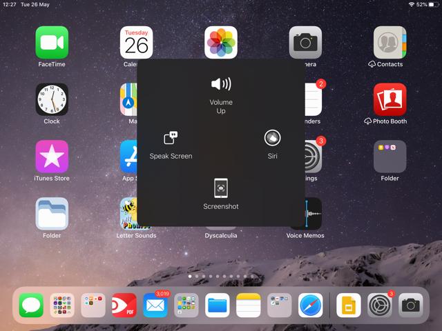 ipad accessibility screen
