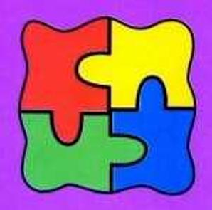 four coloured jigsaw pieces