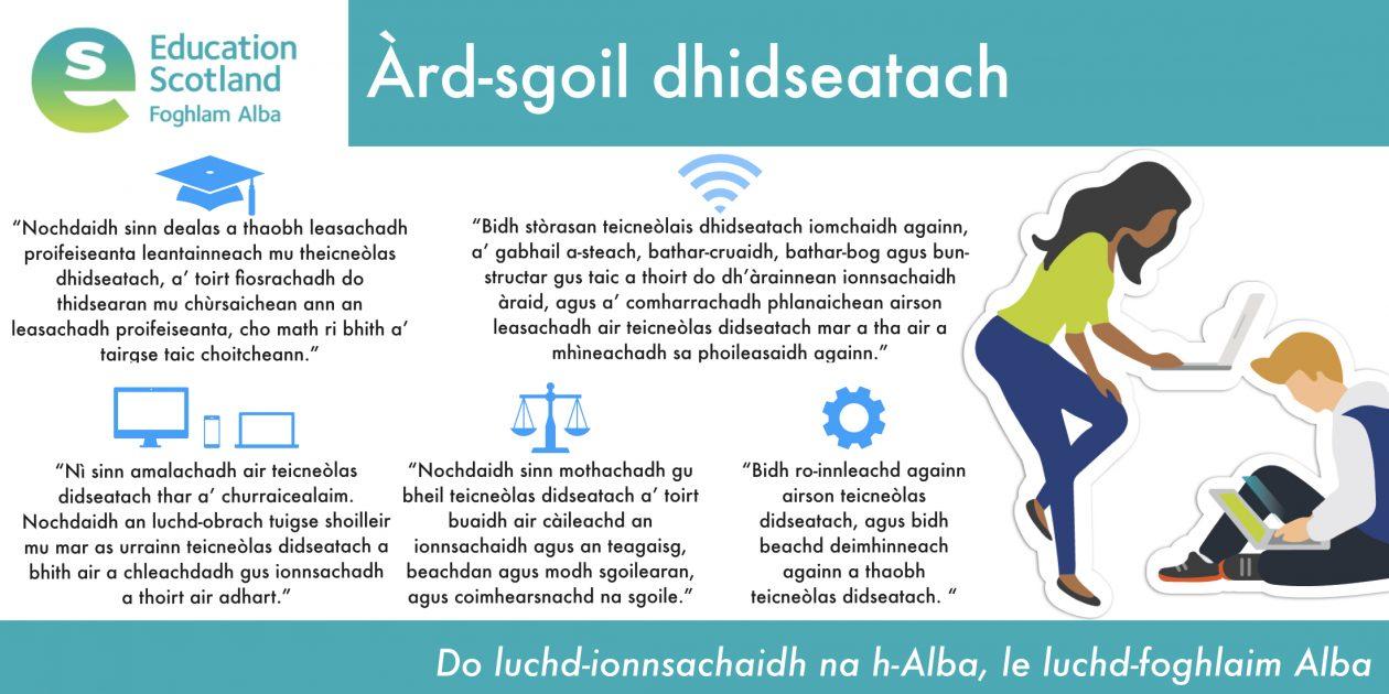 digital secondary school diagram Gaelic