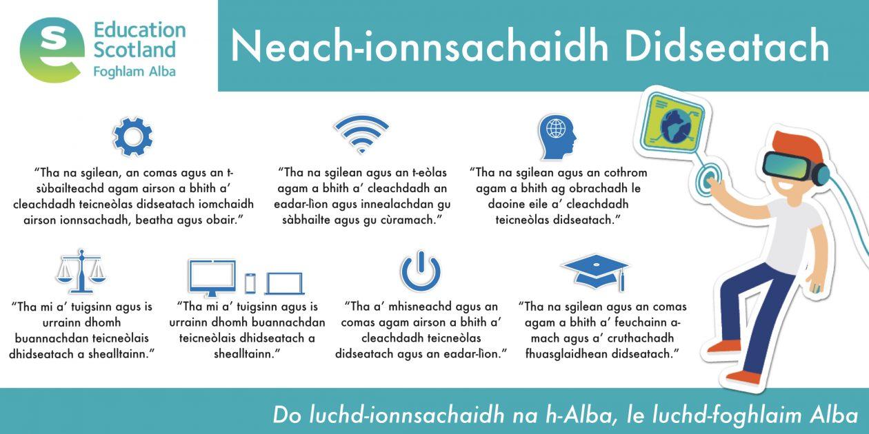 digital learner diagram Gaelic