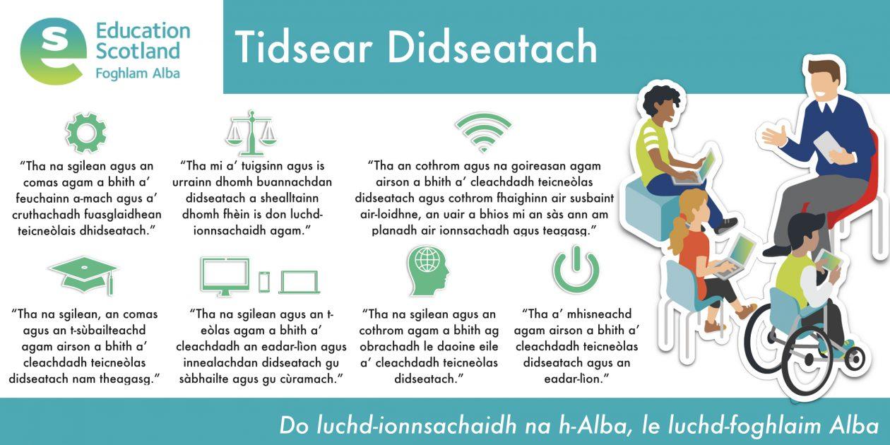 digital teacher diagram Gaelic
