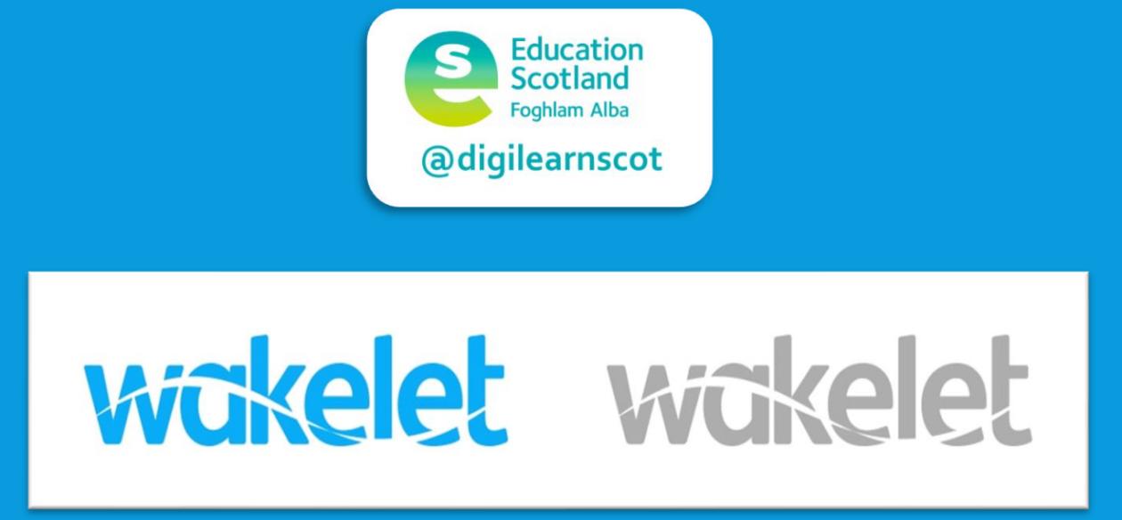 wakelet and education Scotland logos