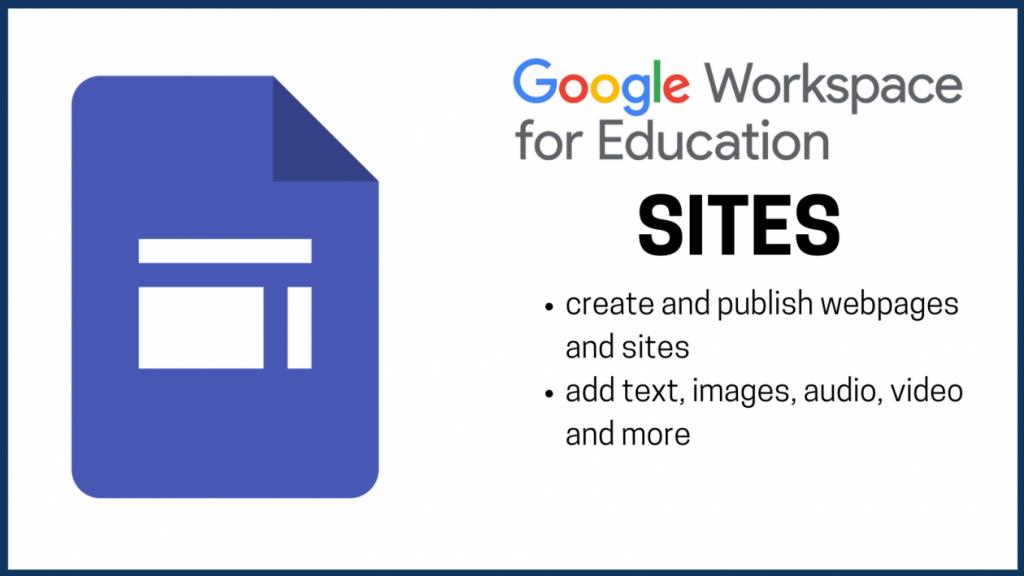 google sites web page builder