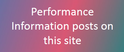 Performance Information blogposts in this site