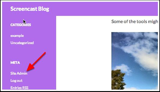 1. Log onto your blog dashboard