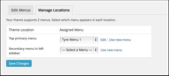 Screenshot menus location