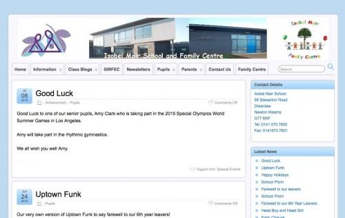 Screenshot isobel-mair site using suffusion