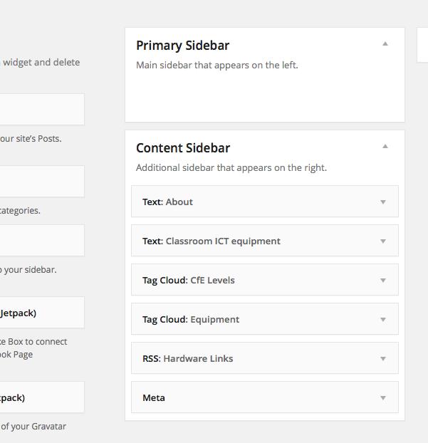 Screenshot Widgets Dashboard