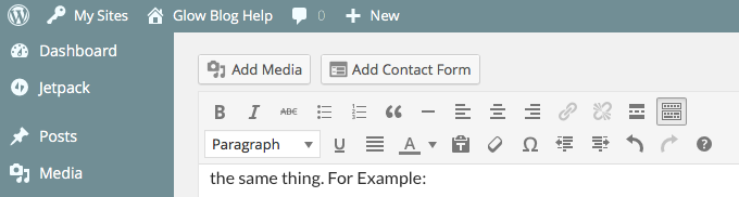 "post editor, ""Add Contact Form"""