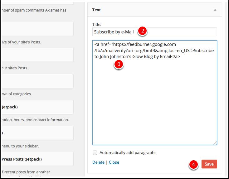 Screenshot edit Text Widget