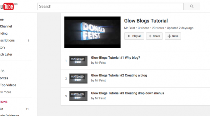 Glow Blogs YouTube tutorials by @donaldfeist
