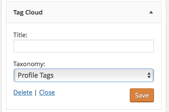 tag cloud widget profile tags