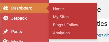Dashboard Sidebar Menu - Analytics