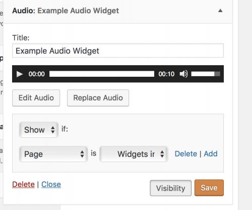 Screenshot Editing Audio Widget