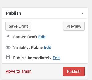 Screenshot of Publish Metabox