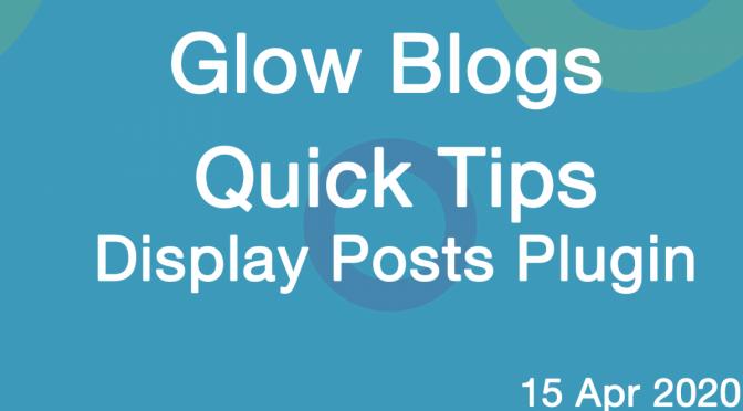 Quick Tip Display Posts Plugin Banner