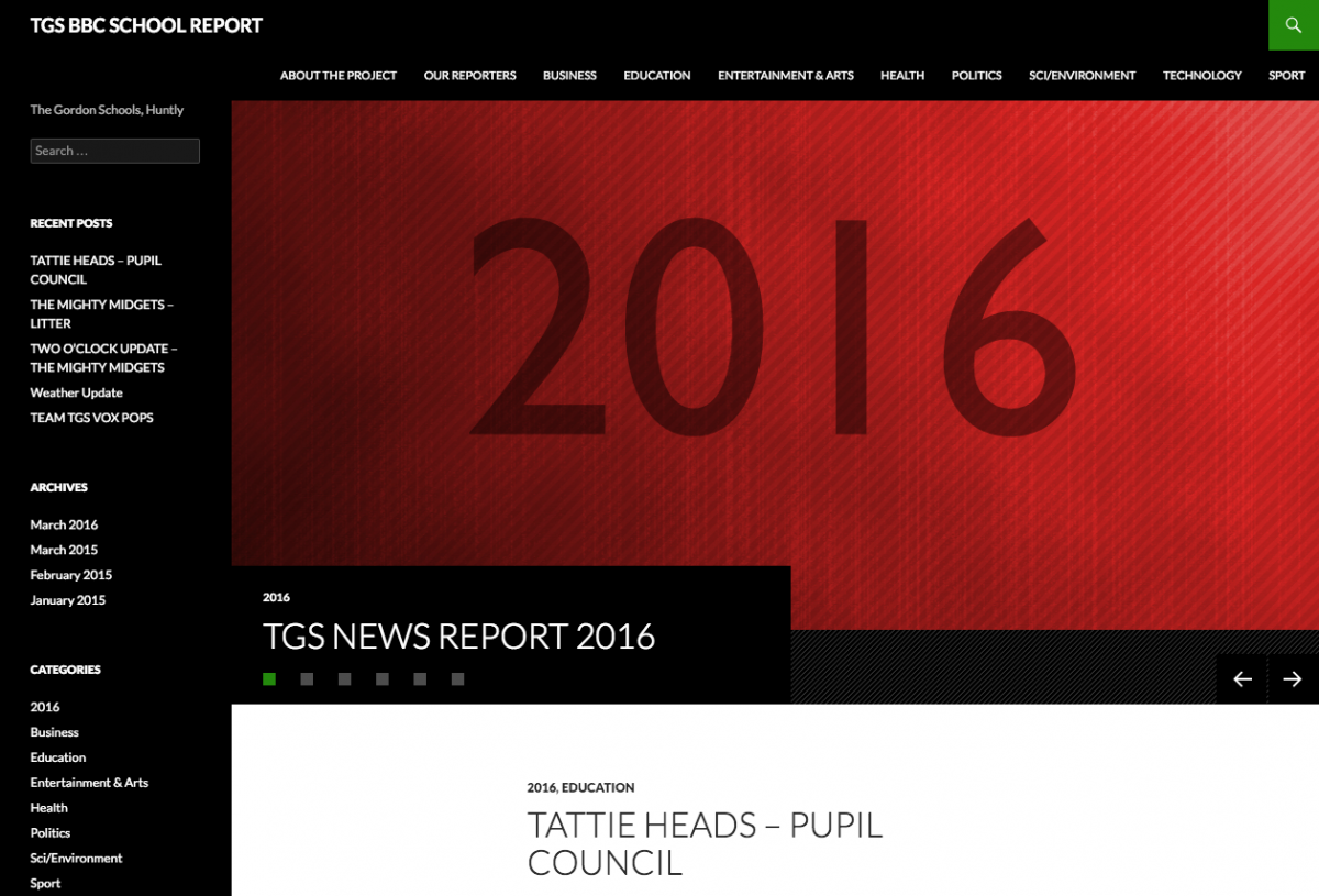 TGS BBC SCHOOL REPORT