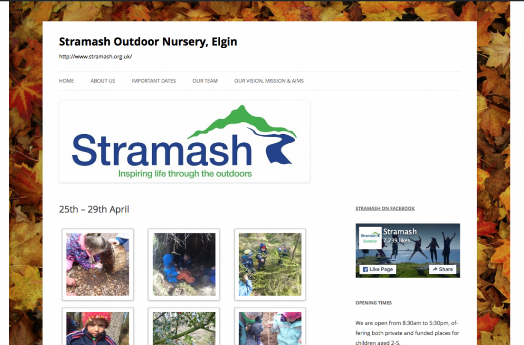 Stramash Outdoor Nursery, Elgin Blog