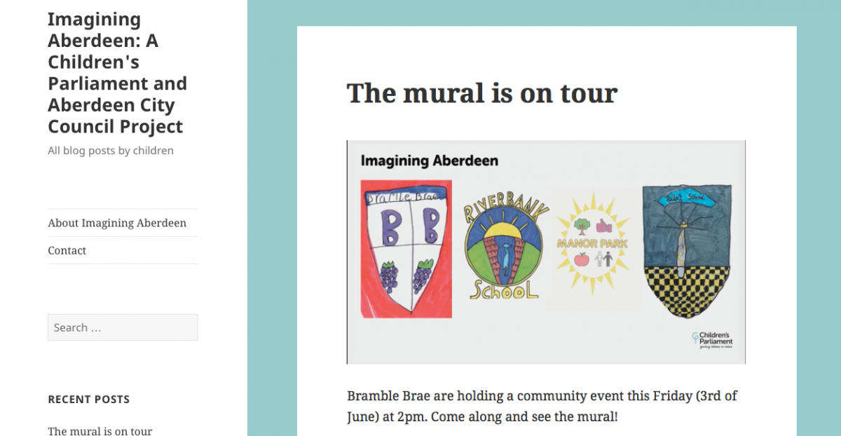 The mural is on tour