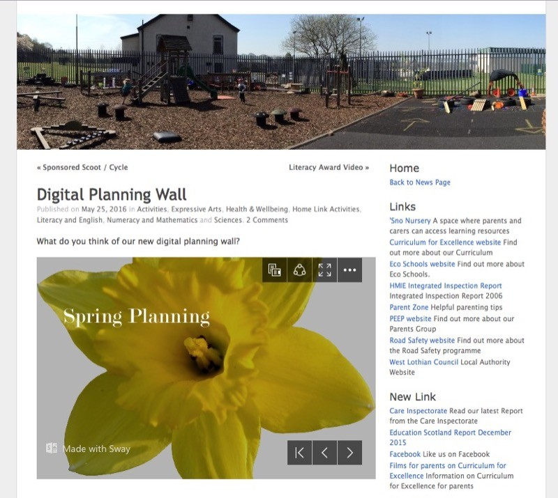 Digital Planning Wall