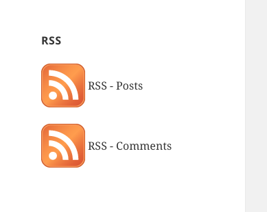 RSS Links Screenshot
