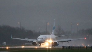 The plane which landed around 15:40 GMT at Glasgow airport.  http://www.bbc.co.uk/news/uk-34839477
