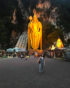 Statue and stairs leading to Batu Caves