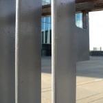 Through the railings