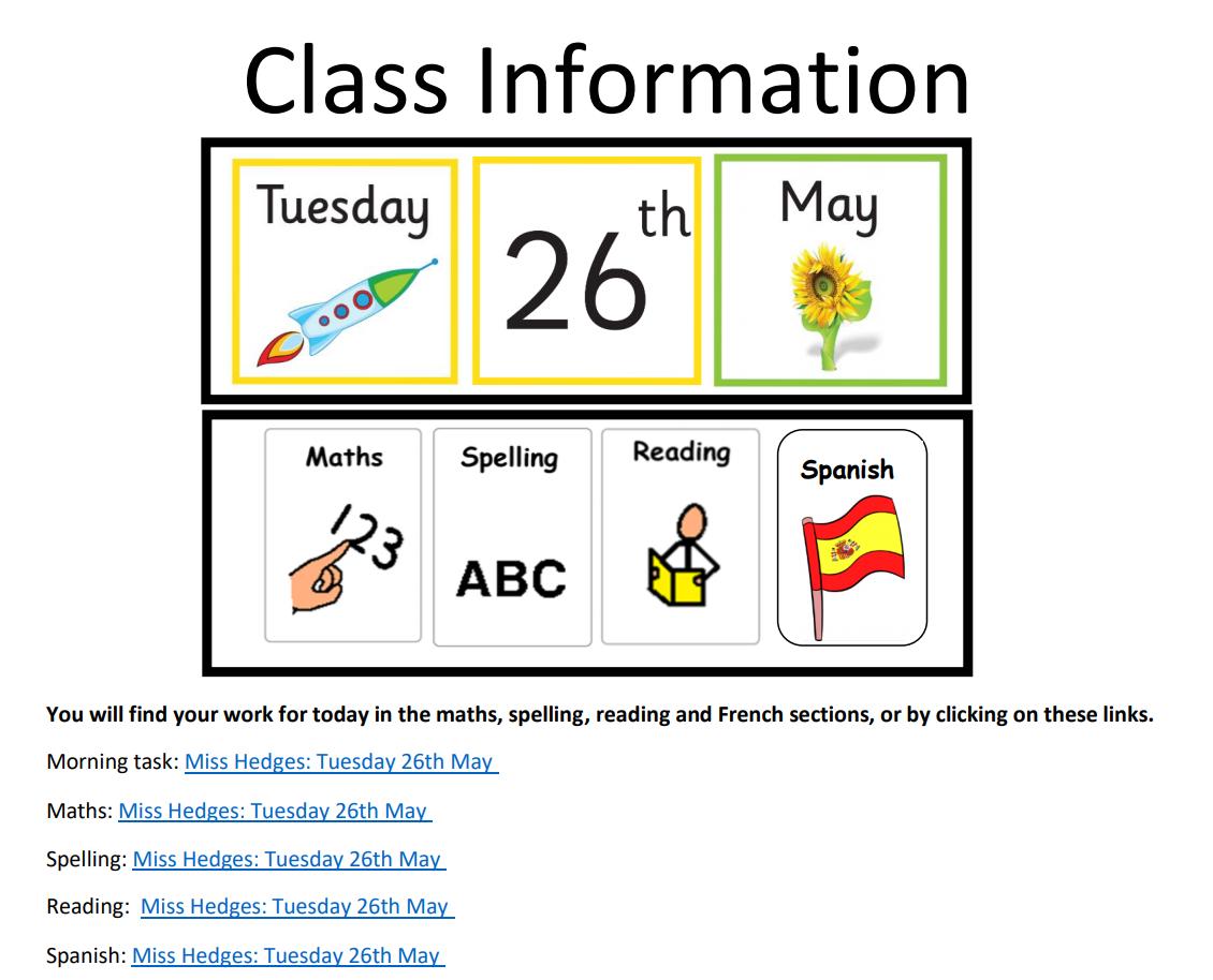 Class Information Post