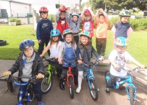 St Andrews nursery kids learn to ride bikes