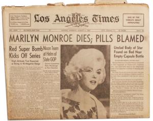 death marilyn monroe poem critical essay