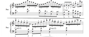 An example of Debussy's work where is a clear pattern of Fibonacci numbers.