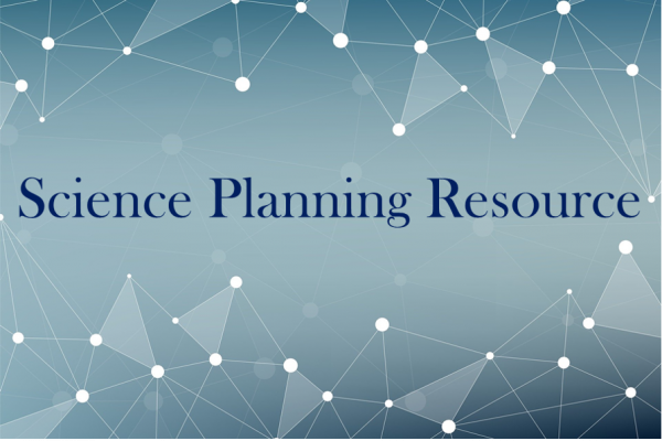 Abstract image of triangles with the words Science Planning Resource