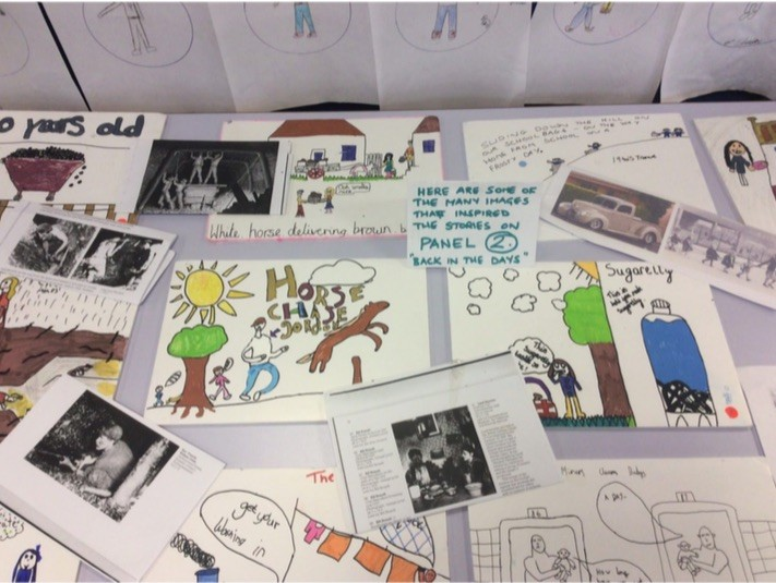 """""""The children explained the planning process and shared their sketches with us. Urban Planning was a vital part of the process as children look to the future of the town and add their serious and heartfelt wishes and dreams for the future to be captured in the mural."""""""
