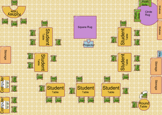 Classroom layout attempt 1