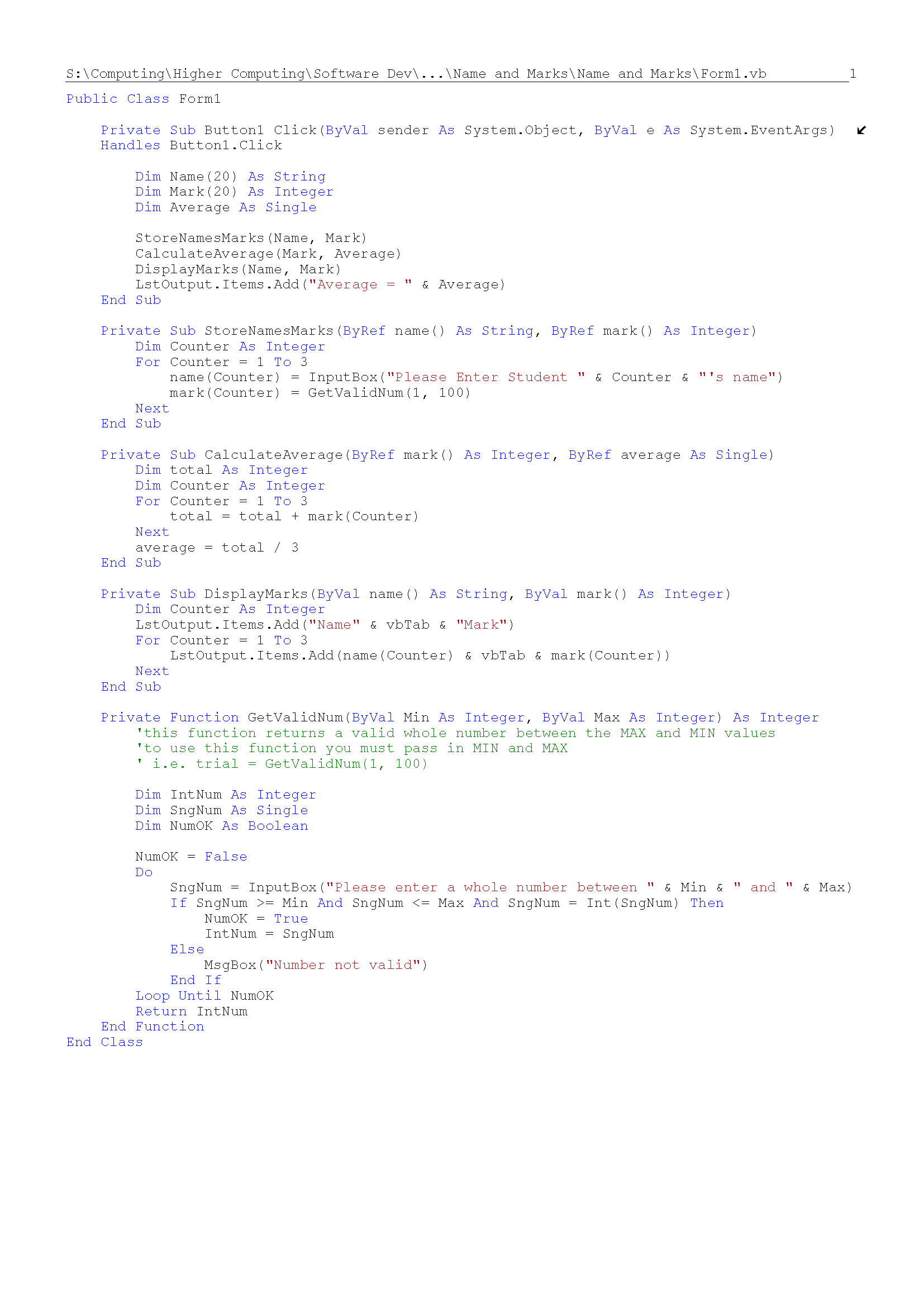 Parameter Passing | Computing