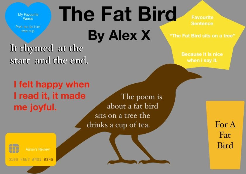 The Fat Bird Poem — Aaron 2