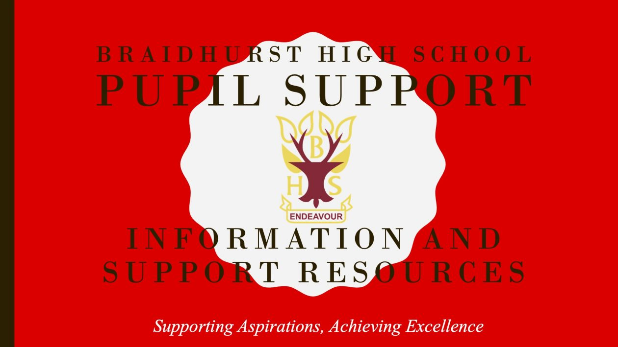 Pupil support, information and resources