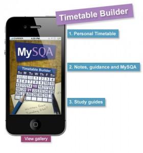 SQA Timetable Builder App