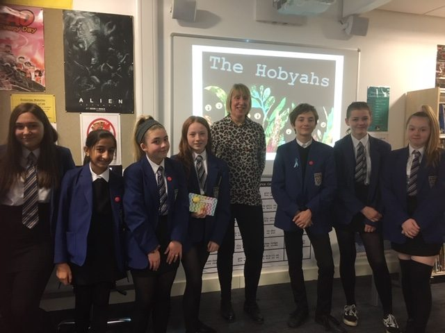 Author Gill Arbuthnott 'Blethering' at Coltness High School