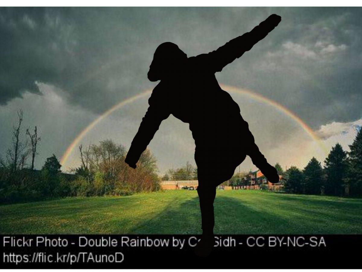 Rainbow behind-Emma