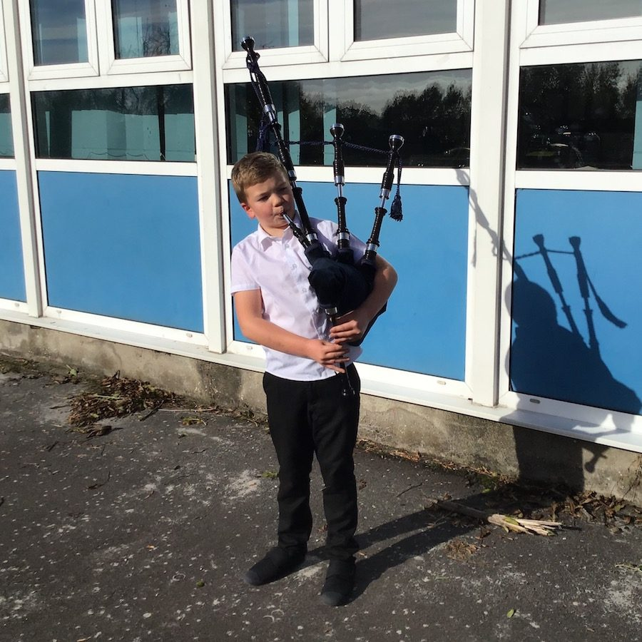 Banton Bagpipe Birthday Boy