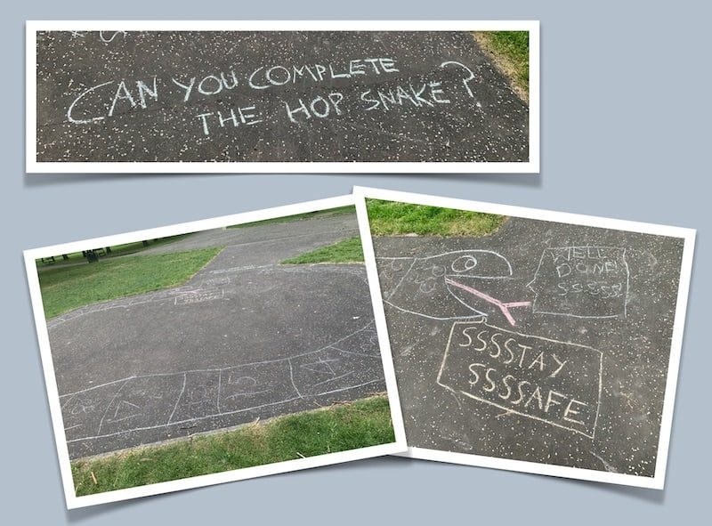 chalk drawing in the park