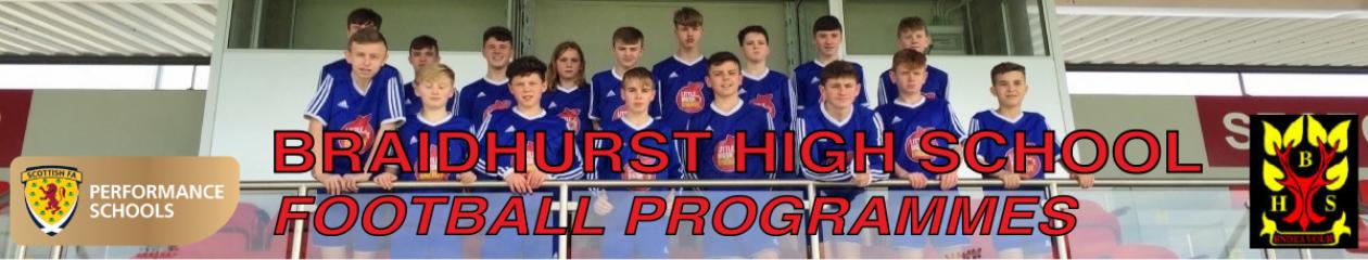Braidhurst Football Programmes