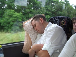 Mr Hamilton exhausted after a long day in Paris!