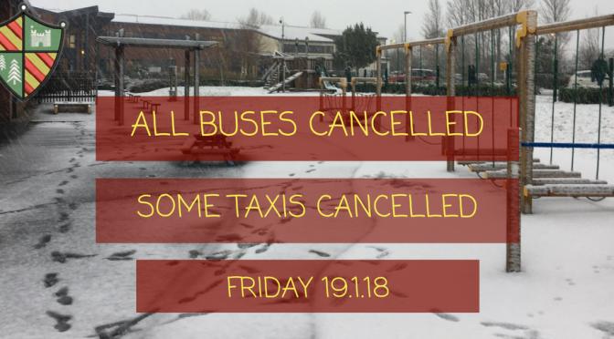 ⛔️ No ASN Buses on Friday 19.1.18 ⛔️