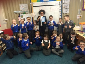 This Primary 7 lassie let us read her book about Scotland this morning. We thought it was pure dead brilliant !