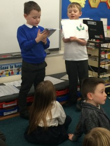 These clever boys have written their own books about Scotland.